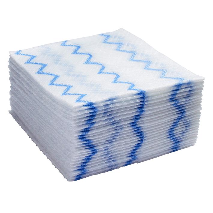ラバーメイド ディスポーサブル マイクロファイバー クロス ブルー 40枚